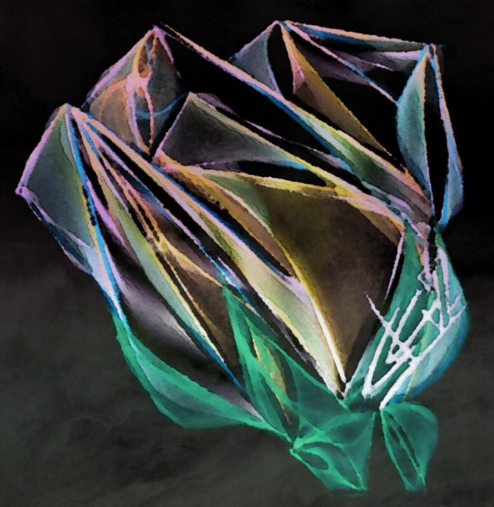 Roos verpakt in Plasticfolie