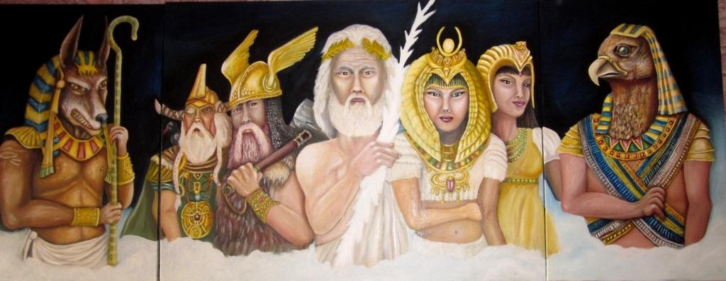 Drieluik goden