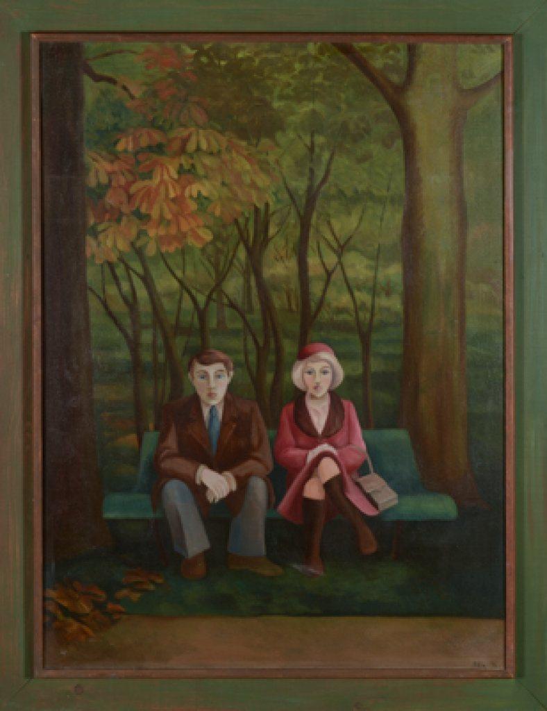 Paar in de herfst