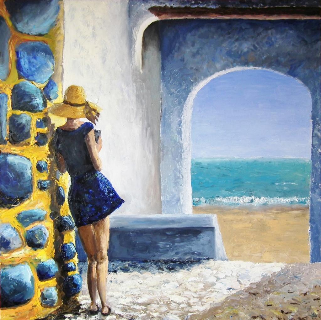 Meisje leunend tegen een muur