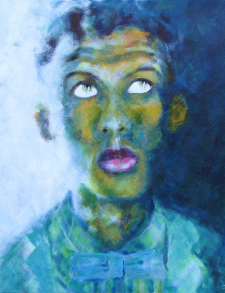 Stromae, acryl op doek 60x50cm